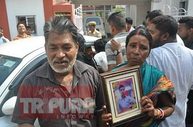 Victim family seeks justice from Minister Sudip Barman. TIWN Pic Feb 18