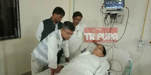 Sudden fall of former CPI-M Minister Badal Chowdhury's health, admitted in GB. TIWN Pic Nov 17