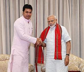 Tripura CM met PM Modi after NITI Aayog meeting. TIWN Pic June 15