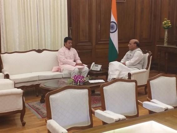 Tripura CM met Defence Minister Rajnath Singh at Delhi