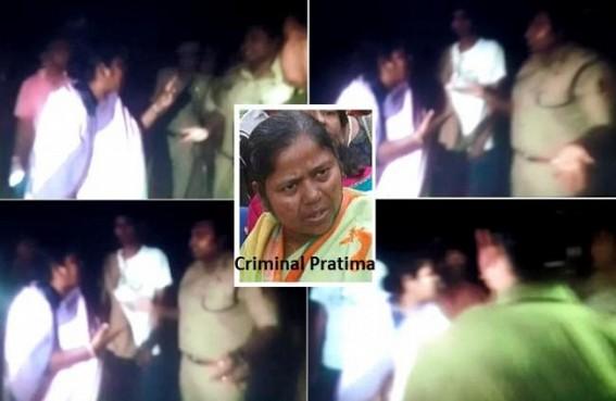 "TIWN Exclusive video footage :""Tereko hum Abhi Maar Dalenge""  Criminal Pratima's Murder Threat to Addl SP Kiran Kumar for stopping violence;  Biplab, Pratima's Poll rigging, Murder Threats to IAS, IPS officials destroyed Tripura's Democracy"