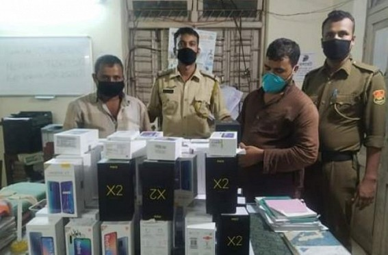 2 thieves arrested with 77 mobile sets