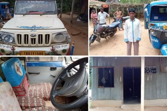 Statewide BJP's violence hits Law and Order : Ration-Shop dealer's family was attacked, house, vehicles broken asking him to surrender shop, Murder threat given allegedly by Charilam Mandal activists