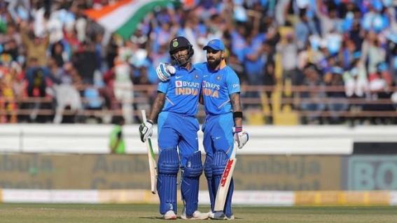 Rajkot ODI: Dhawan, Kohli, Rahul fifties propel India to 340/6
