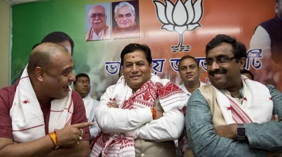 Two ministers inducted in Sonowal's Cabinet