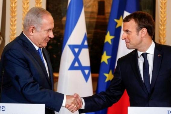 Macron begins Israel visit, meets Netanyahu