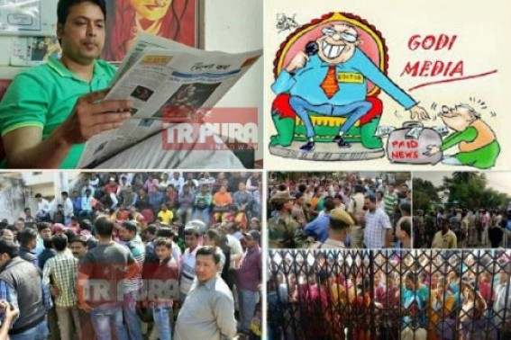 India's REPUBLIC Day, the Irony of Democracy under BJP rule : Various Media houses shutdown, Poor people's voice unheard, 90% media 'Jo Hujoor'