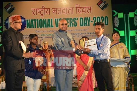 10th National voters day 2020 observed with the theme,'Electoral literacy for Stronger Democracy'