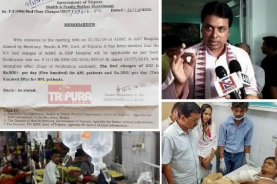 No lesson learnt by BJP Govt after massive poll defeat at Delhi ! Public asked Tripura CM Biplab Deb to step down after Inhuman imposition of ICU bed-charge, Scrapping of Free Medical Services, asked to follow Kejriwal's Delhi model