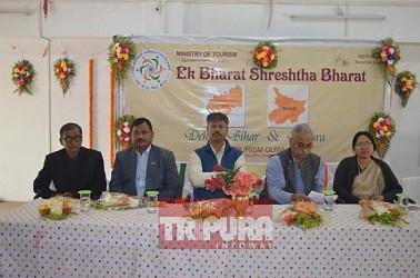 Ek Bharat, Shrestha Bharat campaigning held in Agartala. TIWN Pic Feb 20