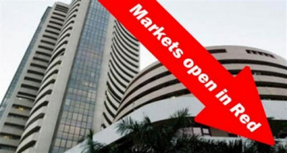 Markets open in red on Wednesday