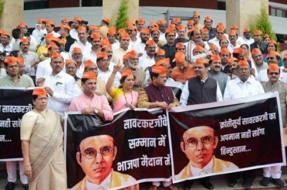 Ruckus in M'rashtra Assembly over Savarkar honour