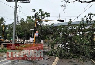 Heavy rain, storm affected various parts of Tripura, havoc in Agartala : Electricity Connections disrupted