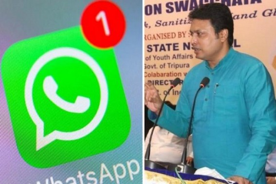 'WhatsApp is trapped most easily', says Tripura CM