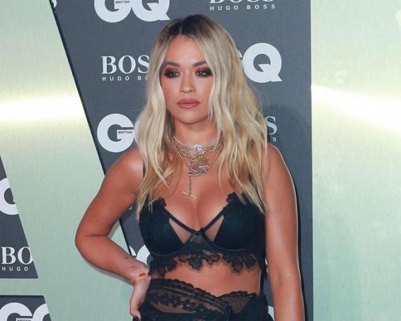 Rita Ora using LED therapy for skincare