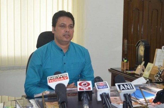 Unmasked public to be fined with Rs. 400 in Tripura : CM