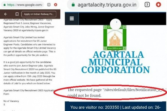 Notice for recruitment in Government sectors for Engineering was deleted from website within 24 hours