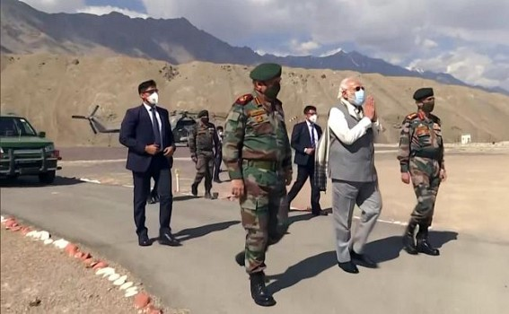 Follow raj dharma, tell truth about China incursion: Cong to PM