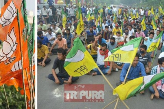 Tension between BJP, IPFT increasing before Tripura ADC Election : IPFT says, 'Protests will be escalated further' !