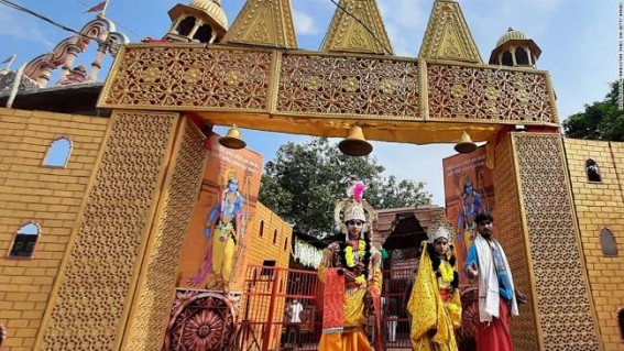 Ayodhya temple foundation celebrated in NY despite ban on video display