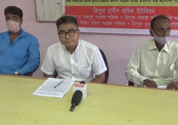 Police didn't permit Trade Unions' 'Bharat Bachaao' protest in Tripura