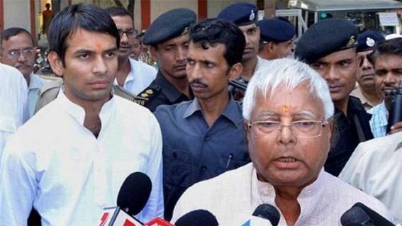 Lalu Prasad angry over Tej Pratap's remark on Raghuvansh