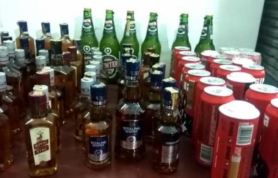 West Agartala police seized huge amount of foreign liquor