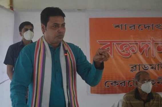 CM Biplab Deb asked Critics to be 'Positive'
