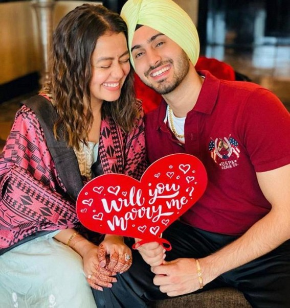 Neha Kakkar shares images of Rohanpreet's marriage proposal