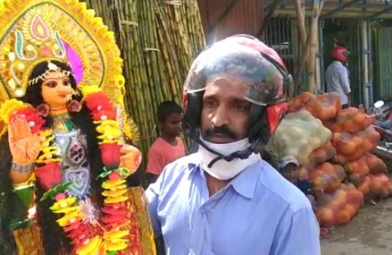 Families busy in Lakshmi puja market to welcome the Goddess of Wealth