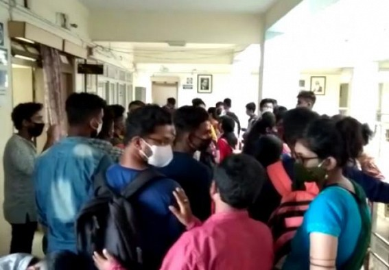 Tripura D.El.ED Students demand Online examinations