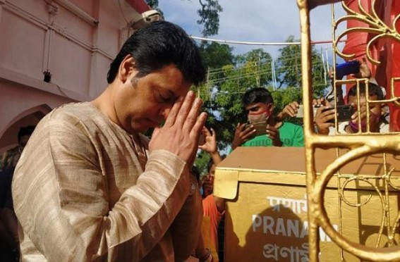 Biplab Deb wasted Taxpayers Money on his Birthday : Travelled Udaipur via Helicopter