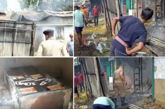 Statewide Violence on Trade Union called Strike Day : CPI-M Party Offices, Shops set on Fire, Vandalized : Strike goes Success amid Zero-Picketing by Strikers