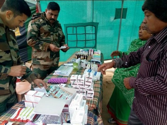 Assam Rifles held free medical camp at West Dist. TIWN Pic Jan 13