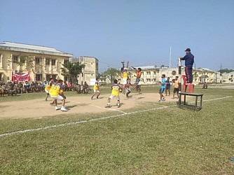Assam Rifles organized volleyball match. TIWN Pic Jan 27