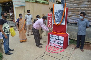 All India DSO paid tribute to revolutionary poet Kazi Nazrul Islam. TIWN Pic May 25