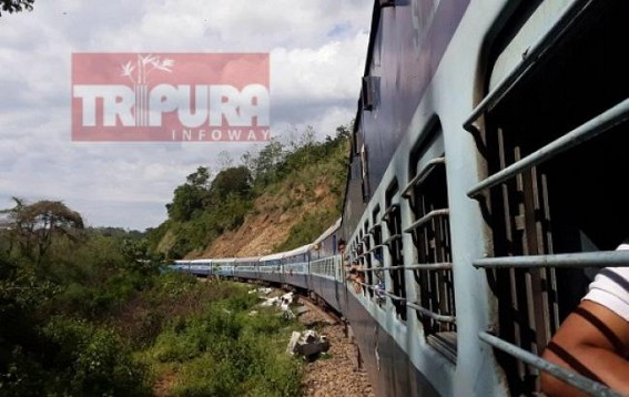 Landslides hit Railways services in Northeast region : Shramik train to Tripura remains standstill at Lumding