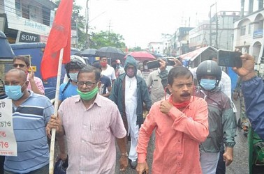 CPI-M protest with 5 points of demands.TIWN Pic Sep 22