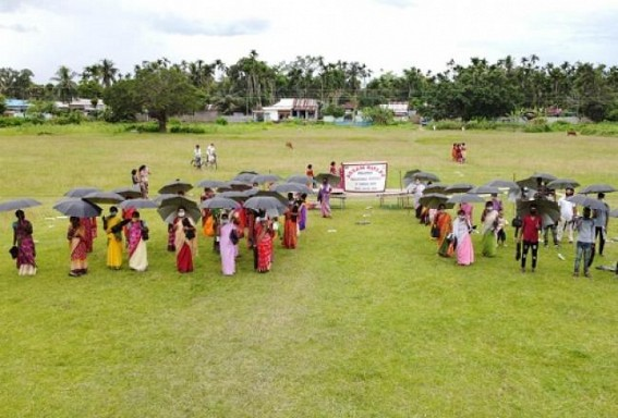 Monsoon : Assam Rifles distributed Umbrellas and Tarpaulins to needy people