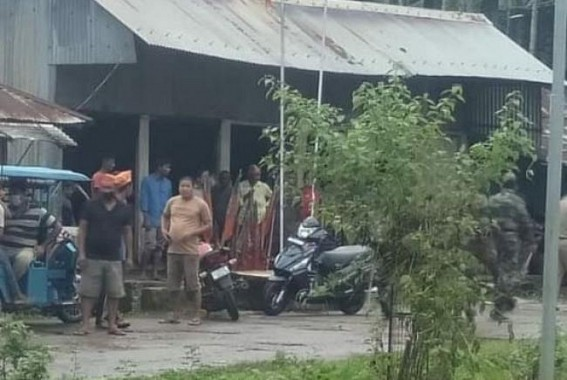 BJP party office set on fire at Chawmanu of Dhalai