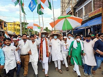 Congress's rally at Kailasahar in protest against the Anti-Farmers bill of Modi Govt. TIWN Pic Oct 20