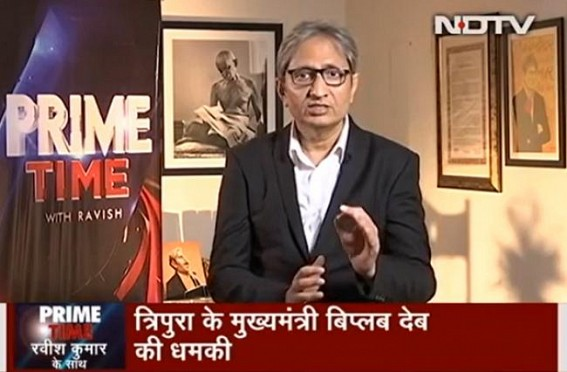 Tripura's Netizens hailed eminent Journalist Ravish Kumar for Highlighting Tripura's suffering in NDTV Prime Time