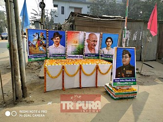 Cosmopolitan club in Agartala paid tributes to Freedom Fighters on 71st Republic Day. TIWN Pic Jan 26