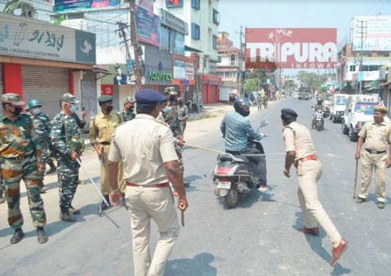 Tripura Police again fails to avoid Controversy : Hospital goers, Govt employees, market goers, gas cylinder carrying people, journalists randomly beaten in lockdown