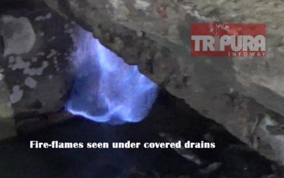 Pipeline leakage : Fire breaks out in Agartala, Bijoy Kumar Chowmuhani