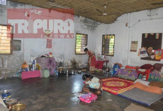Family living in Govt school from 3 years after Flood devastated home as Govt could arrange housing for them yet