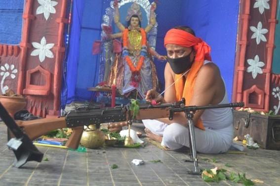 2nd Bn of Tripura State Rifles celebrate Biswakarma Puja