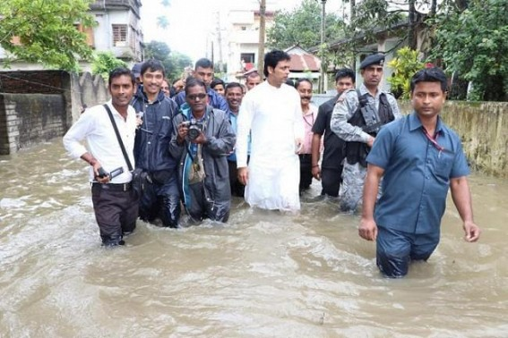 SMART City, No Water-Logging problems Dreams ended for Agartala People as CM Biplab Deb in massive propaganda 'Almost No Flooding Problem' in Agartala after BJP Govt
