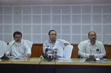 Health Dept's routine press briefing at Secretariat. TIWN Pic April 2