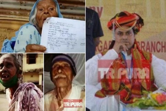 Tripura burning, People dying,'NERO' slashed thousands of 80yrs+ olds Social Pensions,Old Age pensions,  lack of Oxygen, Free Dialysis stopped but heartless Biplab celebrates B'day with Lakhs of taxpayers money in Lavish Style